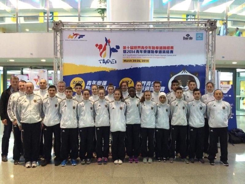Jugend-(U18)-Weltmeisterschaft 2014 in Taipeh - Das Team der DTU