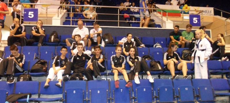 Kadetten-(U15)-Europameisterschaft 2013 in Bukarest - Das DTU-Team auf den Zuschauerrängen