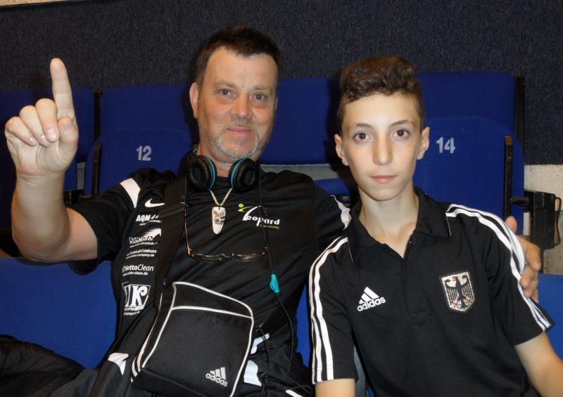 Kadetten-(U15)-Europameisterschaft 2013 in Bukarest - Vasileios Katsaros mit Eugen Meinking
