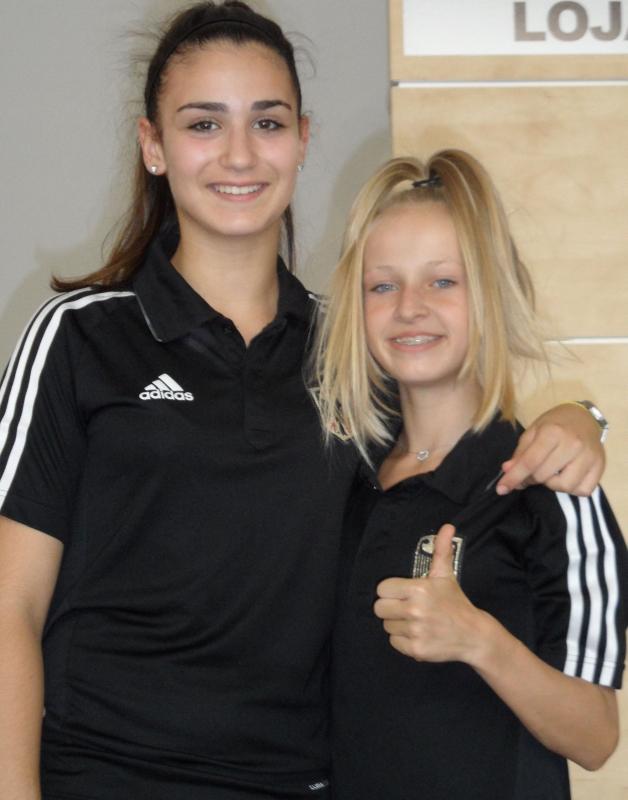 Kadetten-(U15)-Europameisterschaft 2013 in Bukarest - Sophia Karamangiolis mit Charleen Cornelius