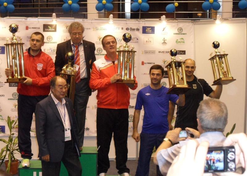Kadetten-(U15)-Europameisterschaft 2013 in Bukarest - Siegerehrung der Mannschaftswertung