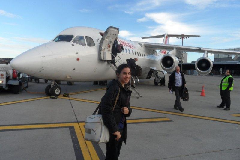 Chamutal Castaño am Flughafen Zürich