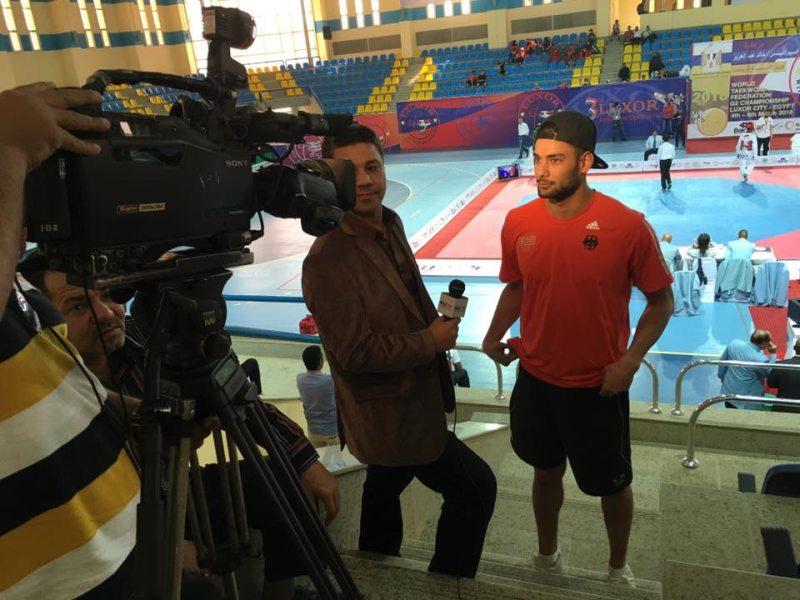 Luxor Open 2016 in Luxor - Tahir Gülec beim Fernseh-Interview