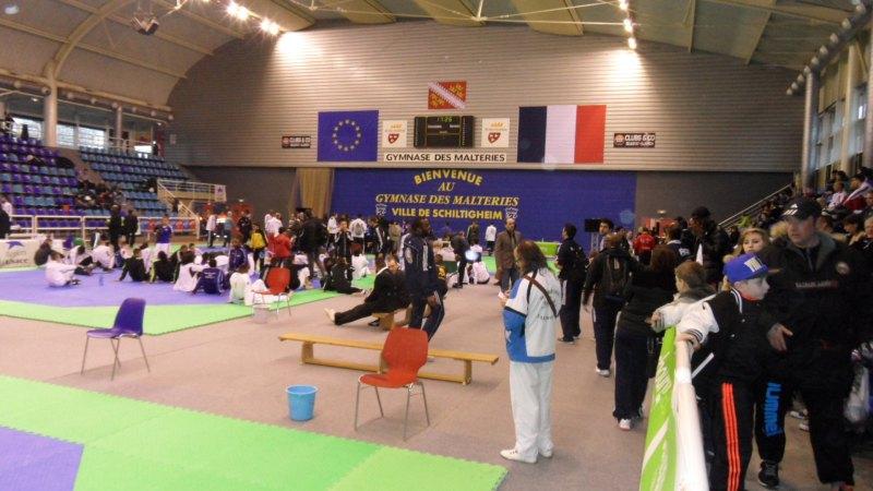 Open International d'Alsace 2014 in Schiltigheim - Innenraum der Wettkampfhalle