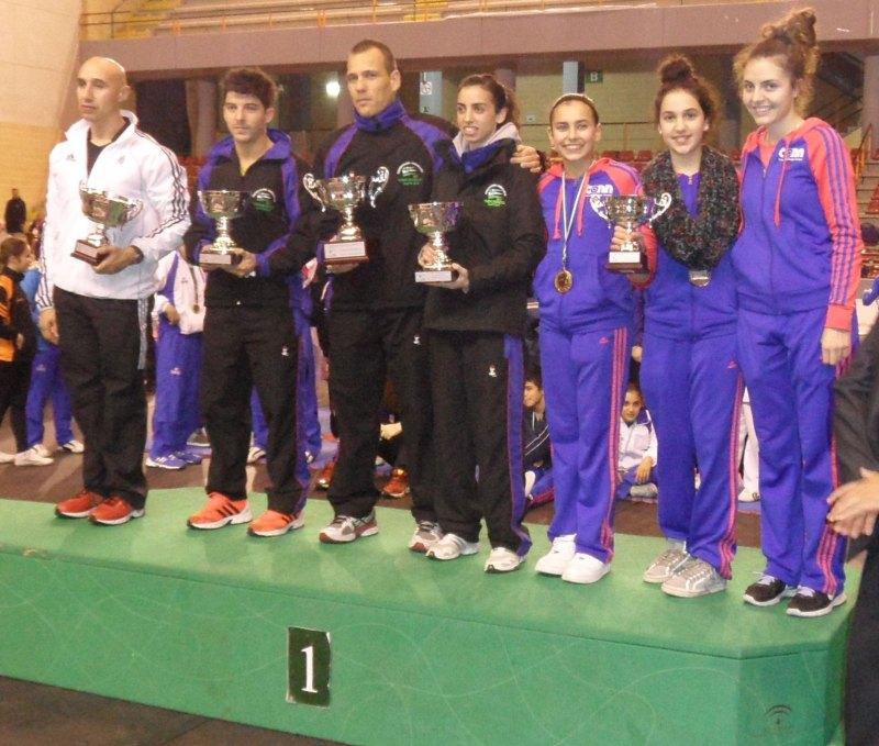 Mannschaftswertung der Damen bei den Open de Andalucía 2013 in Córdoba