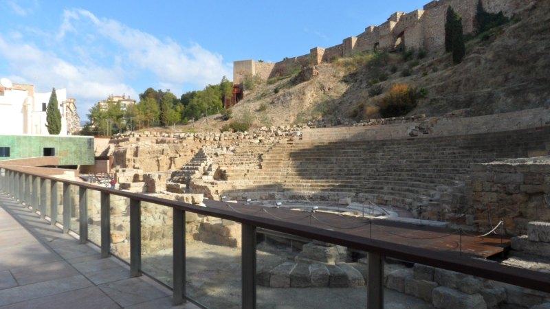 Amphitheater und Alcazaba in Málaga