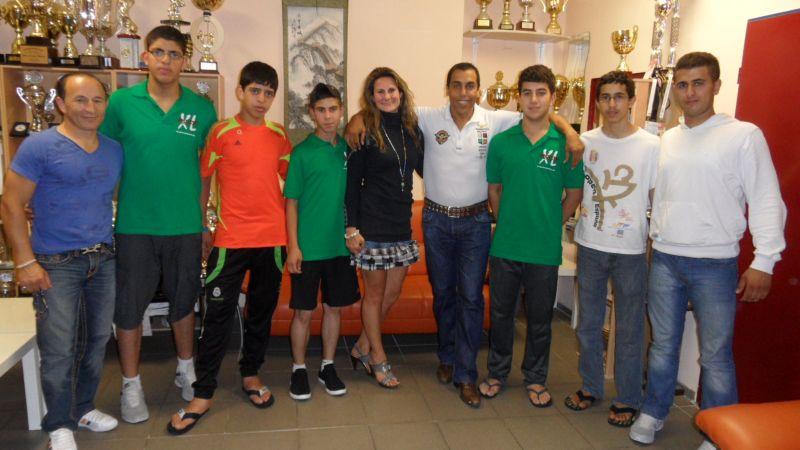 Besuch von der Integrationsbotschafterin des DOSB Ebru Shikh Ahmad und ihrem Mann Ismael Salah Shikh Ahmad