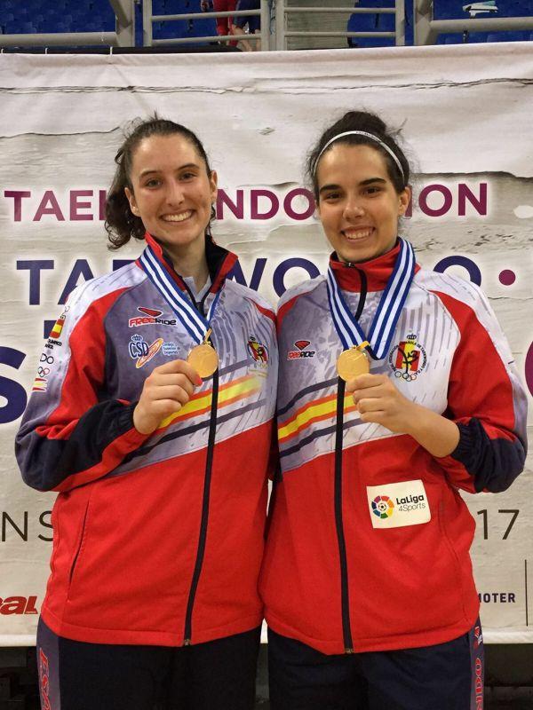 Presidents Cup 2017 in Athen - Cecilia Castro und Marta Calvo mit ihren Medaillen
