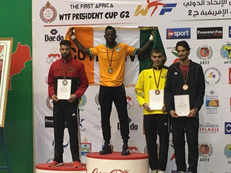 Presidents Cup Africa 2017 in Agadir - Tahir Gülec bei der Siegerehrung