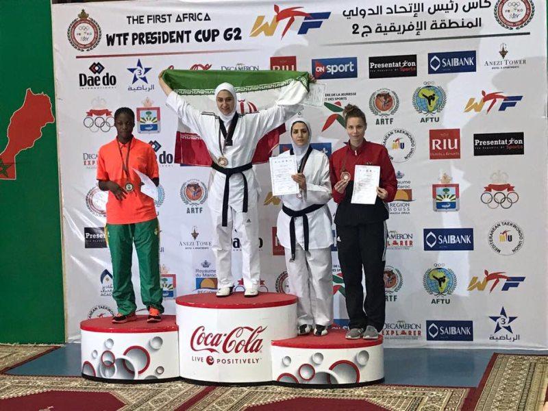 Presidents Cup Africa 2017 in Agadir - Yanna Schneider bei der Siegerehrung