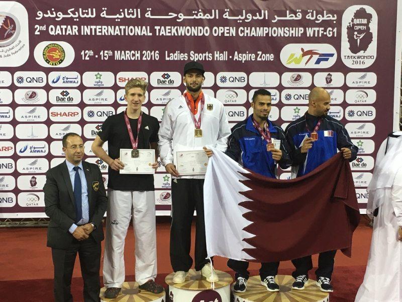 Qatar Open 2016 in Doha - Tahir Gülec bei der Siegerehrung