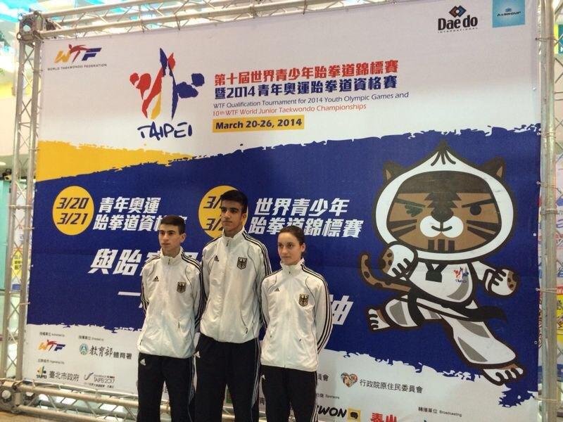 Qualifikationsturnier für die Olympischen Jugend-Spiele 2014 in Taipeh - Daniel Chiovetta, Hamza Adnan Karim und Madeline Folgmann