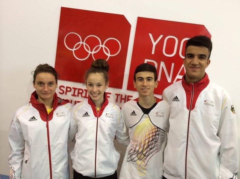 Qualifikationsturnier für die Olympischen Jugend-Spiele 2014 in Taipeh - Madeline Folgmann, Giuliana Federici, Daniel Chiovetta und Hamza Adnan Karim