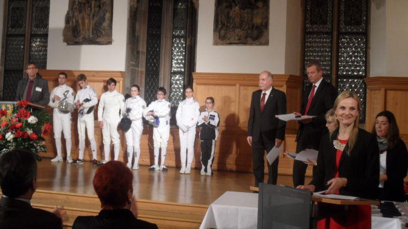 Sportlerehrung der Stadt Nürnberg 2014 - Die Geehrten aus der Sportart Fechten