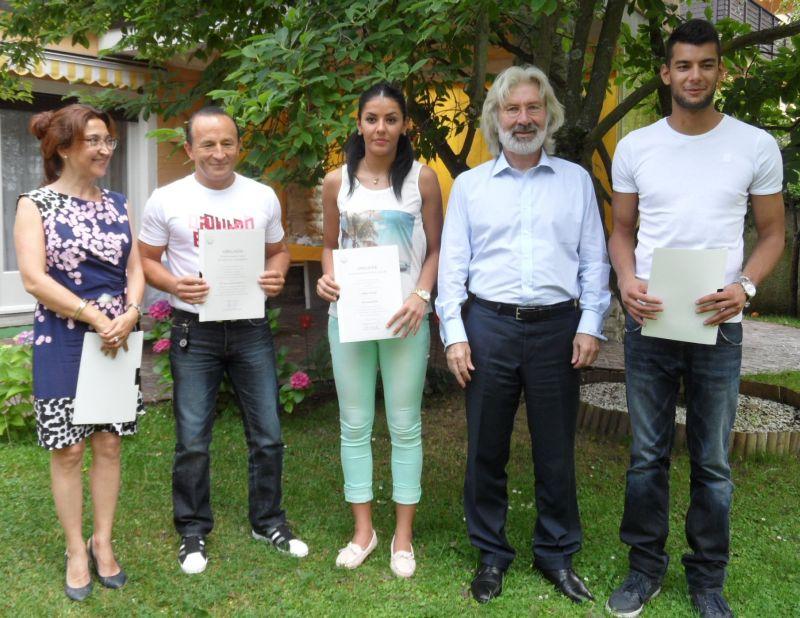 Tahir und Rabia Gülec mit dem türkischen Botschafter und der türkischen Generalkonsulin