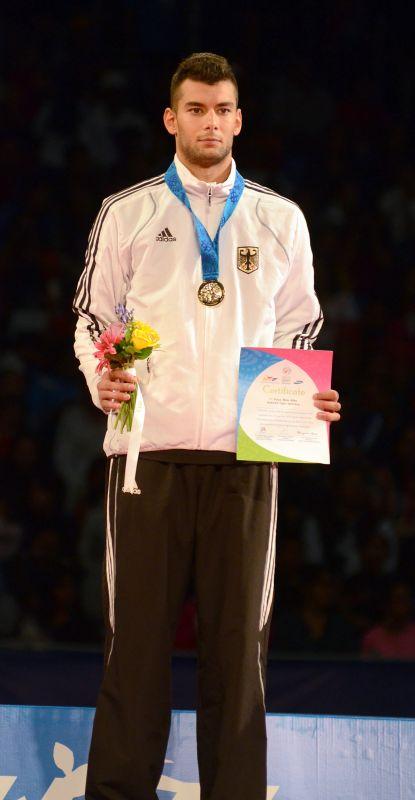 Tahir Gülec bei der Siegerehrung der WM