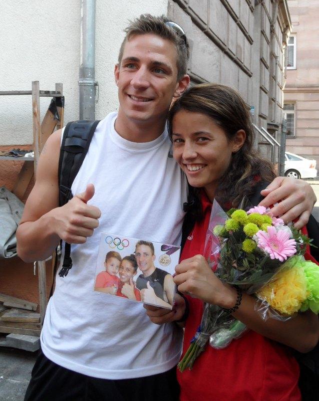 Vereinswechsel - TKD Özer begrüßt Daniel Manz - Daniel und Sümeyye Manz bei der Verabschiedung vor den Olympischen Spielen von London
