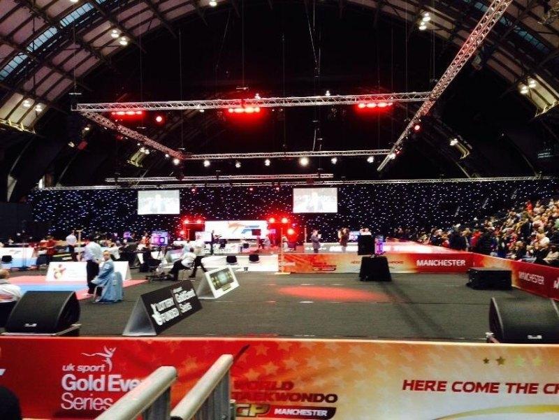 WTF World Grand Prix 2013 Manchester - Wettkampfhalle Innenraum - Bild 3