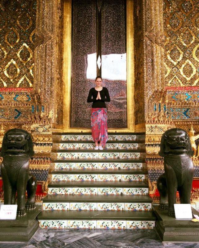 Anna-Lena Frömming beim Trainigslager in Thailand