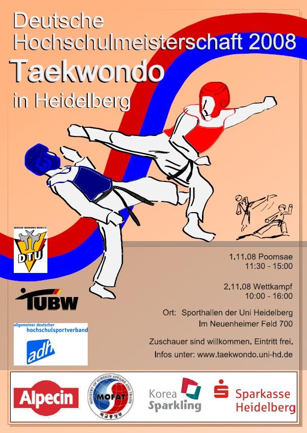 Plakat Deutsche Hochschulmeisterschaft 2008