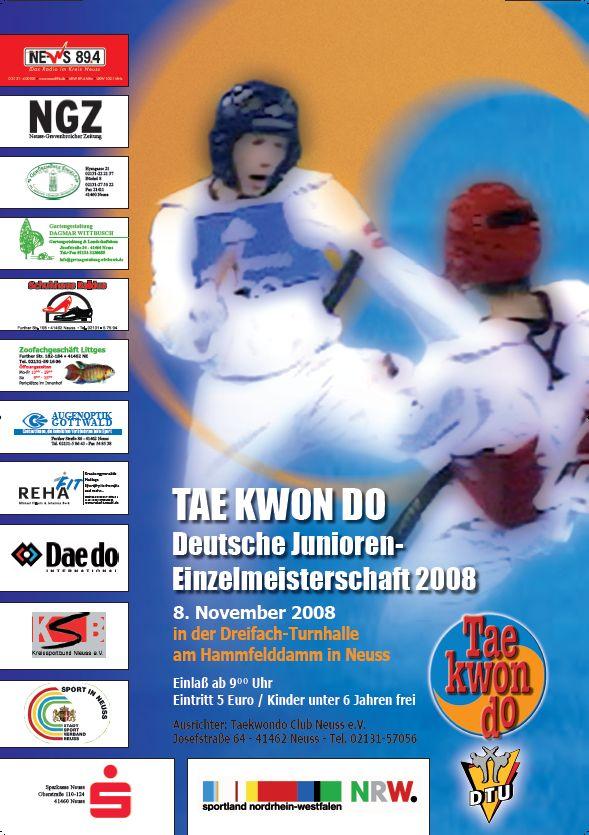 Plakat Deutsche Meisterschaft 2008