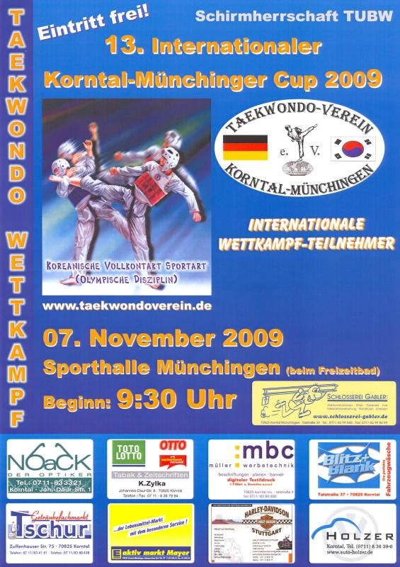 Plakat 13. Internationaler Korntal-Münchinger Cup 2009